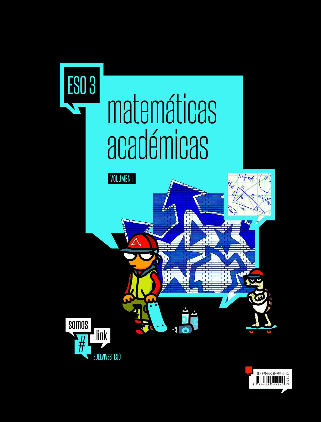 Solucionario Matematicas Academicas 3 ESO Edelvives