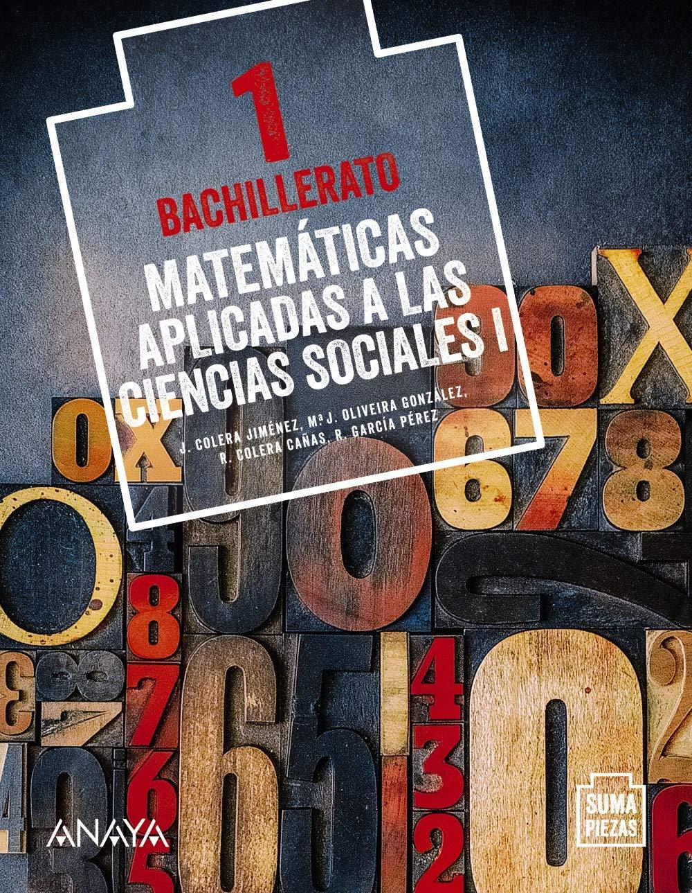 Solucionario Matematicas Aplicadas a las Ciencias Sociales I 1 Bachillerato Anaya