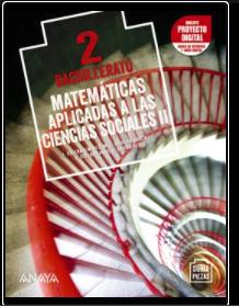 Solucionario Matematicas Aplicadas a las Ciencias Sociales II 2 Bachillerato Anaya